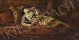 Eisenhut Ferenc - Ágyban fekvő keleti nő