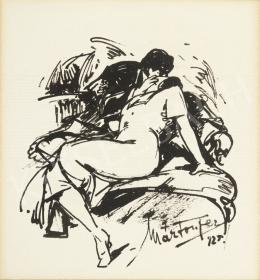 Márton Ferenc - Csókolózó pár, 1925