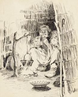 Kotász, Károly - Shepherd Cooking Dinner