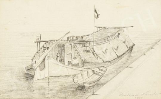 Katona Nándor - Dereglye a kikötőben, 1908 festménye