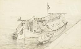 Katona Nándor - Dereglye a kikötőben, 1908