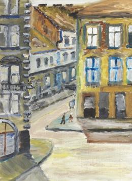 Ismeretlen festő - Városi utca