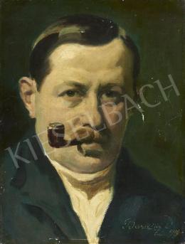 Bardócz Dezső - Önarckép, 1919
