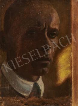 Ismeretlen festő - Férfiportré, 1928