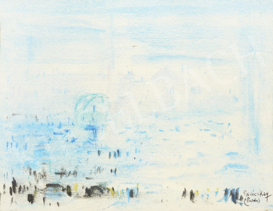 Ruzicskay György - Párizsi látkép festménye