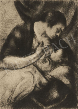 Uitz, Béla - Nursing Mother, 1916