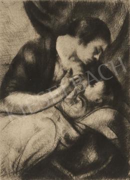 Uitz Béla - Szoptató anya, 1916