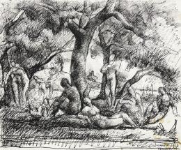 Zsögödi Nagy Imre - Aktok az erdőben, 1927