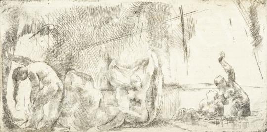 Aba-Novák, Vilmos - Bathing Women painting