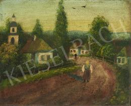 Kállay D. jelzéssel - Öregasszony falusi utcán