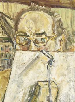 Ismeretlen művész - Vászon mögé rejtőző Önarckép