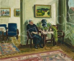 Fenyő Andor - Szobában üldögélő öregasszony