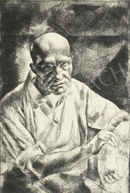 Tarjáni Simkovics Jenő - Ülő önarckép, 1923