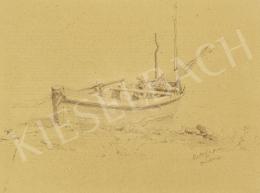 Edvi Illés Aladár - Csónak Révfülöpnél, 1891
