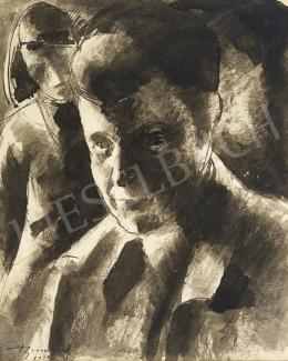 Bene Géza - Férfiportré, 1923