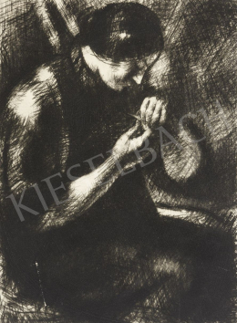 Uitz, Béla - Sewing Woman, 1916