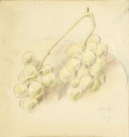 V. G. jelzéssel - Szőlőfürt tányéron, 1963