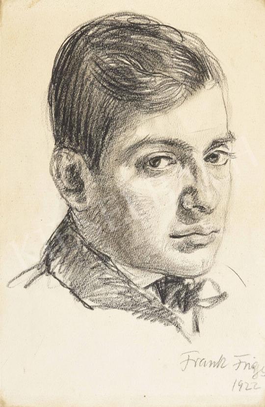 Frank Frigyes - Férfiportré, 1922 festménye