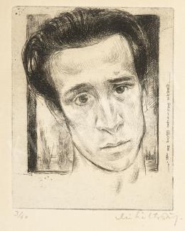 Miháltz Pál - Önarckép, 1928