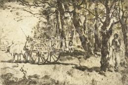 Magyar Mannheimer Gusztáv - Kordéval az erdőn