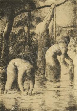 Patkó Károly - Patakban mosó asszonyok, 1924