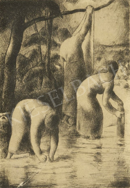 Patkó, Károly - Women Washing in the Brook, 1924