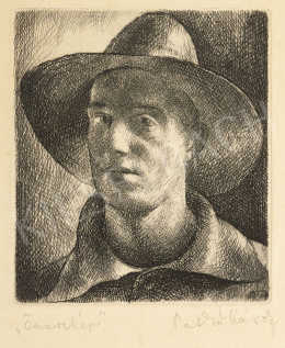 Patkó, Károly - Self-Portrait with a Hat