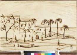 Ismeretlen művész - Közel-keleti táj, 1930