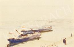Diósy, Antal (Dióssy Antal) - Barges on Danube