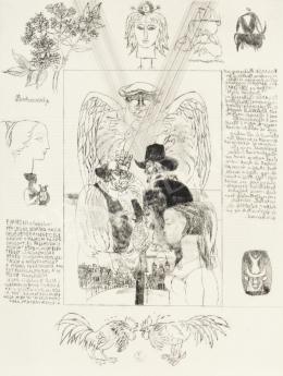 Reich Károly - Könyvillusztráció (W. Shakespeare: Windsori víg nők/5.)