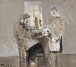 Fejér Csaba - Babát néző nők a szobában