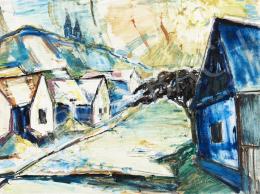 Ismeretlen festő - Napfényes falusi utca