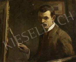 Nyilasy Sándor - Önarckép festőállvánnyal