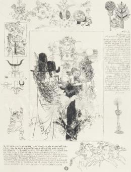 Reich Károly - Könyvillusztráció (W. Shakespeare: Windsori víg nők/ 9.)