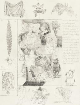 Reich Károly - Könyvillusztráció (W. Shakespeare: Windsori víg nők/ 6.)