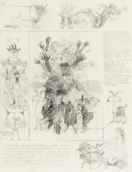 Reich Károly - Könyvillusztráció (W. Shakespeare: Windsori víg nők/ 8.)