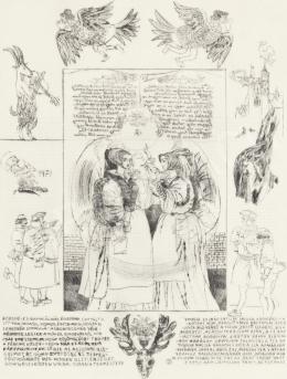 Reich Károly - Könyvillusztráció (W. Shakespeare: Windsori víg nők/ 3.)