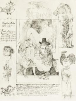 Reich Károly - Könyvillusztráció (W. Shakespeare: Windsori víg nők/ 4.)