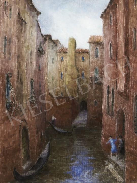 Kapicz Margit - Velencei lagúna festménye