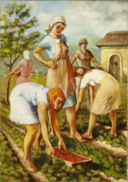 Schwer, Lajos - Strawberry-Picking