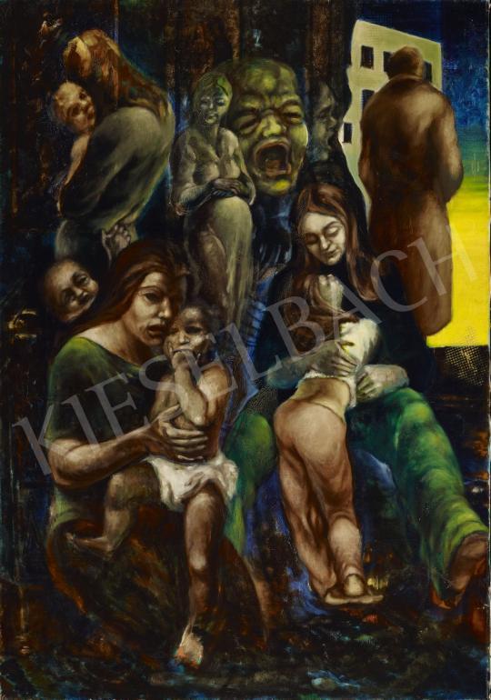 Eladó  Schwer Lajos - Család festménye
