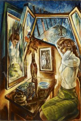Schwer Lajos - Nő tükör előtt