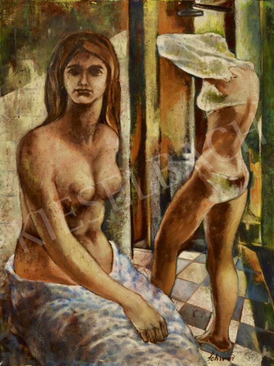 Eladó  Schwer Lajos - Fürdés festménye