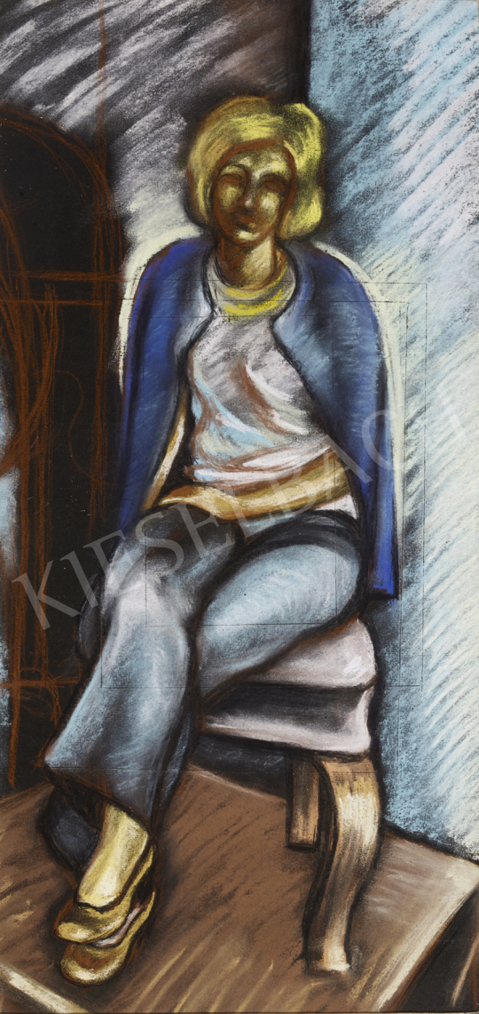 For sale  Schwer, Lajos - Sitting Woman 's painting