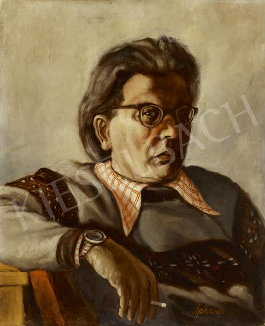 Eladó  Schwer Lajos - Önarckép festménye