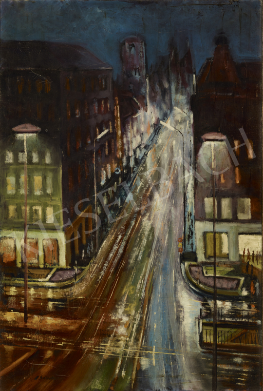 For sale  Schwer, Lajos - City Lights 's painting