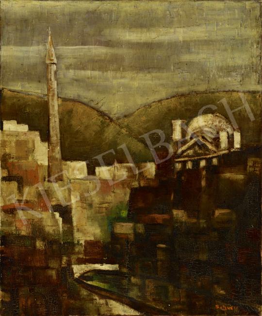 Eladó  Schwer Lajos - Mecset festménye