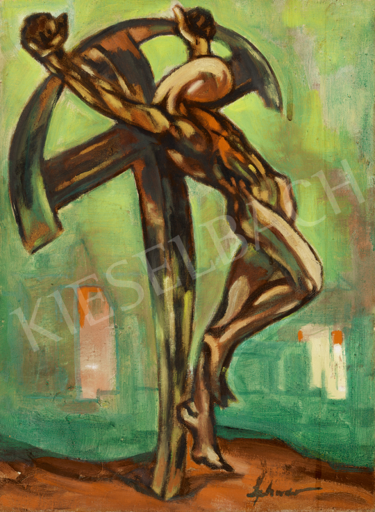 For sale  Schwer, Lajos - Crucifixion 's painting