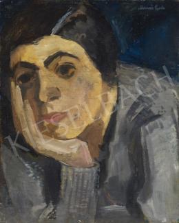 Marosán Gyula - Könyöklő nő