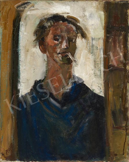 Eladó  Z. Gács György - Tükörben (Önarckép) festménye